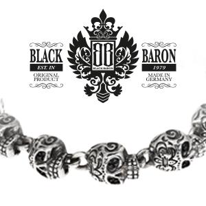 Black Baron Sugar Skull Rock Marken-Schmuck aus der Manufaktur Le Marchant